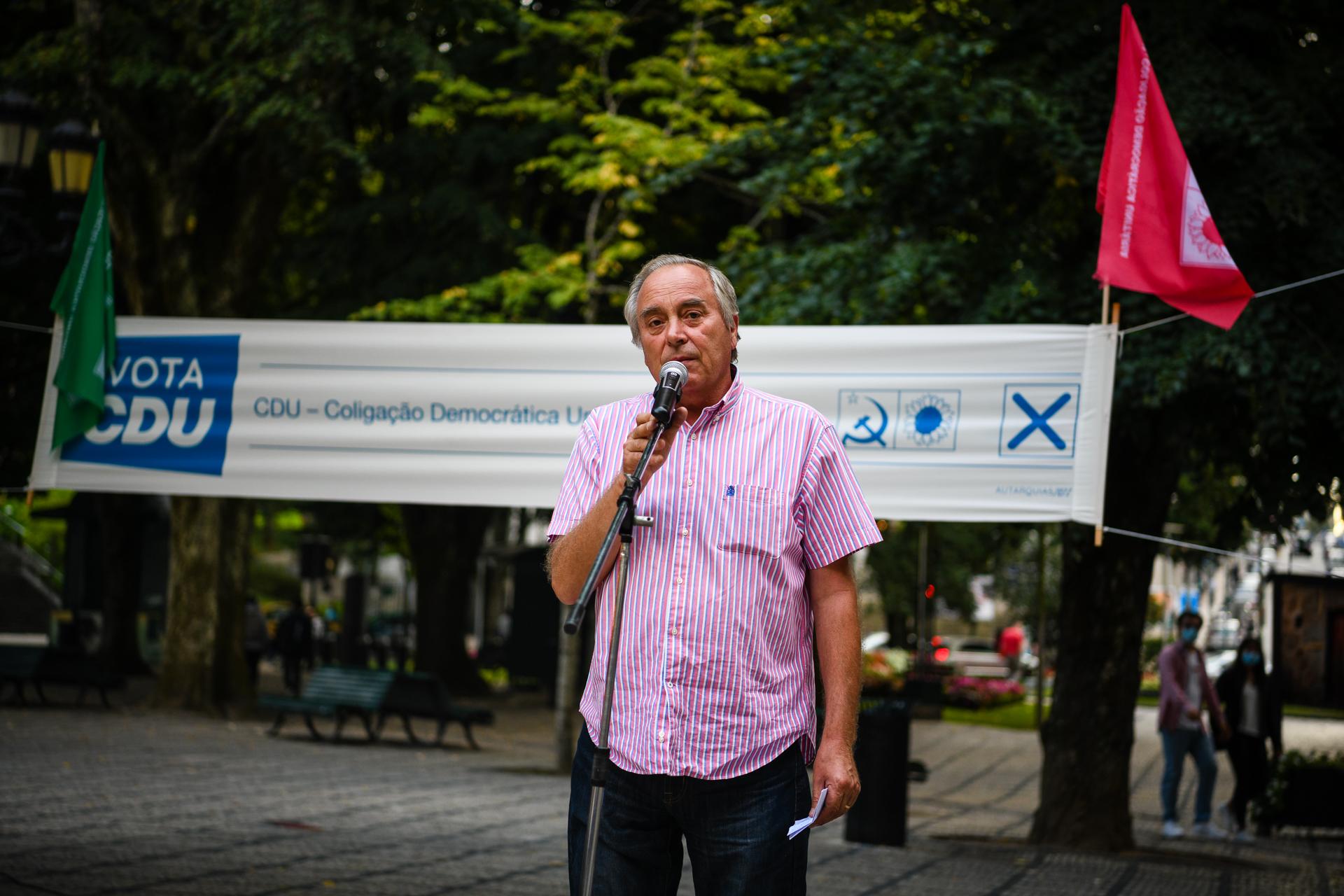 Francisco Almeida encerramento da campanha da CDU para as autárquicas