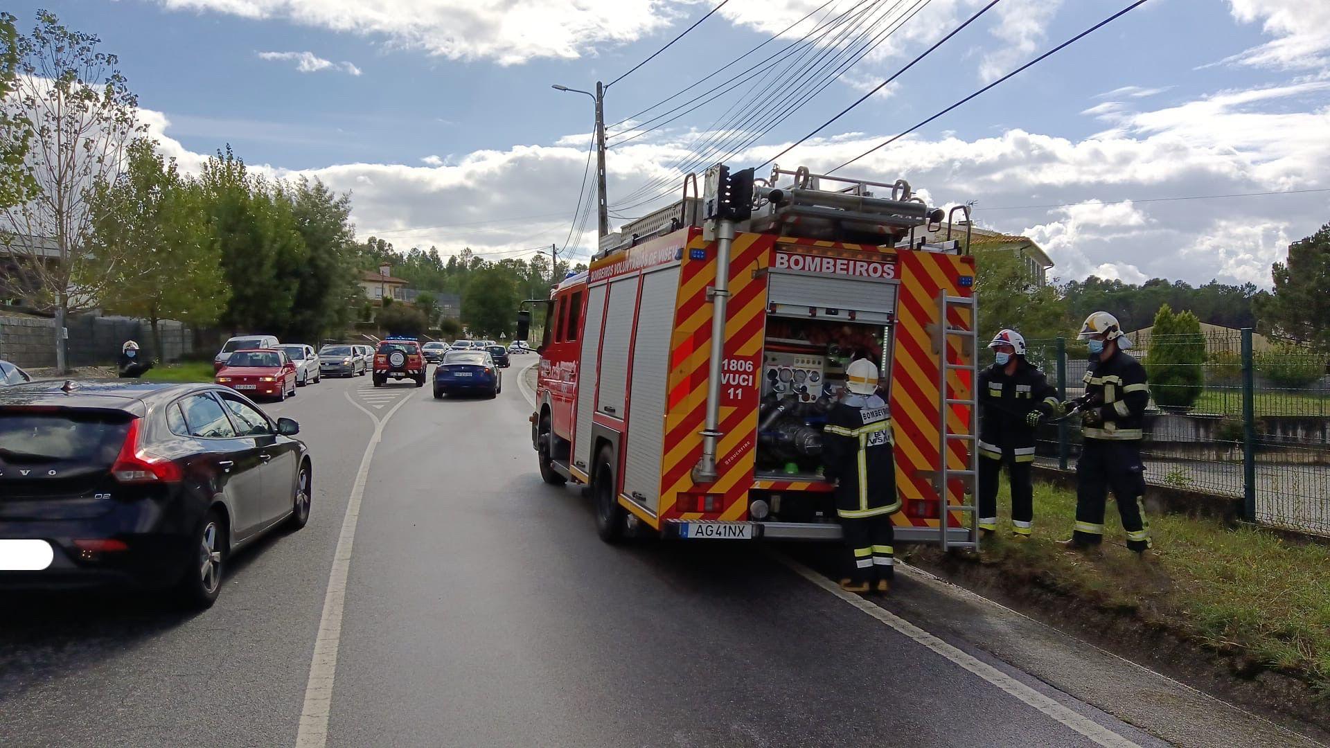 acidente 6 feridos s joão lourosa bombeiros matrícula escondida